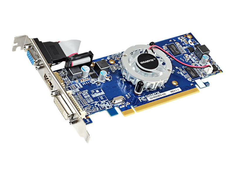 Gigabyte Tech Radeon R5 230 PCIe 2.1 Graphics Card, 1GB DDR3, GV-R523D3-1GL, 17287301, Graphics/Video Accelerators