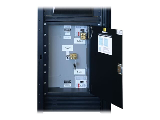 Tripp Lite 60kVA 3-Phase Power Distribution Center, Integrated 3-breaker 208V Service Bypass Switch, SUDC208V42P60M