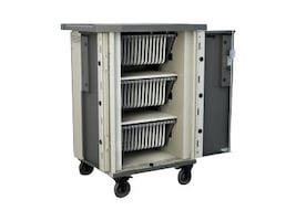 Bretford Manufacturing 45-Unit EVER Cart with MiX Module System AC, T45C-P-AC-US, 31822736, Computer Carts