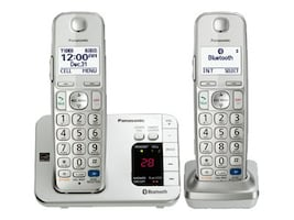 Panasonic Link2Cell BT Cordless Phone w  (2) Wireless Handsets & Answering Machine, KX-TGE262S, 18012018, Telephones - Consumer