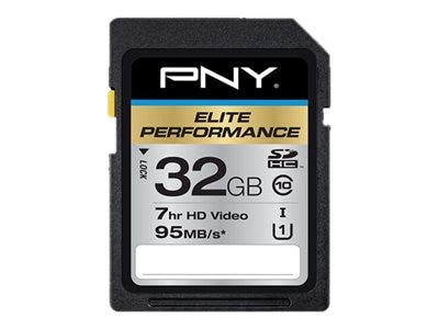 PNY 32GB Micro SDHC UHS-I Flash Memory Card, Class 10, P-SDH32U195-GE, 20995906, Memory - Flash