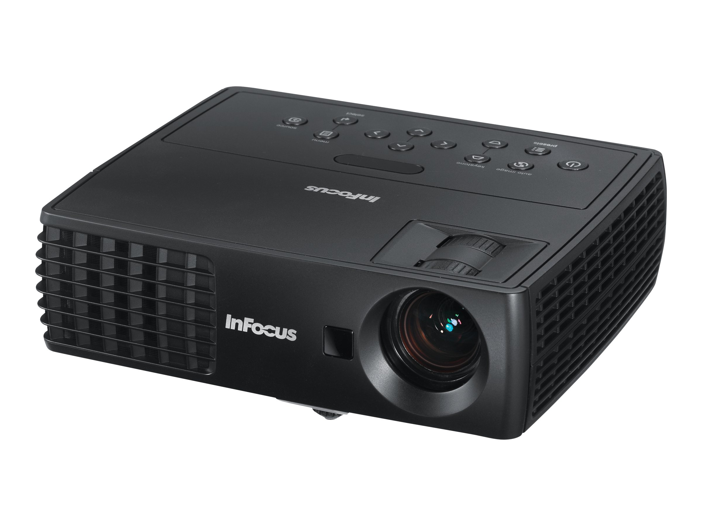 InFocus IN1112A WXGA DLP 3D Projector, 2200 Lumens, Black, IN1112A, 15680037, Projectors