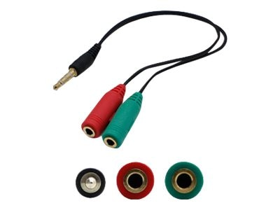 ACP-EP 3.5mm Audio to 2x 3.5mm Audio Splitter Cable, 8in, HSMFF