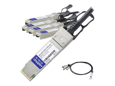 ACP-EP 40GBase-CU QSFP+ to 4xSFP+ Direct Attach Passive Twinax Cable for Arista, 5m, 40G-QSFP-4SFP-C-0501-AO