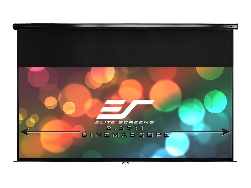 Elite Manual Series Projection Screen, MaxWhite, 114