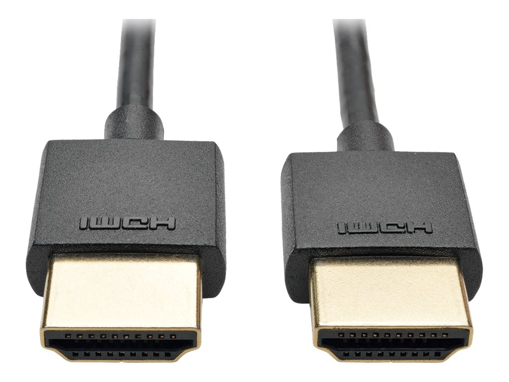 Tripp Lite Slim High-Speed HDMI M M Cable with Ethernet and Digital Video with Audio, 3ft, P569-003-SLIM