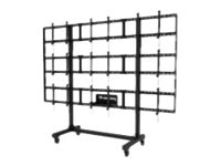 Peerless Portable Video Wall Cart 2x2, 3x2 or 3x3 Configuration for 46-55 Displays, DS-C555-3X3, 17612901, Stands & Mounts - AV