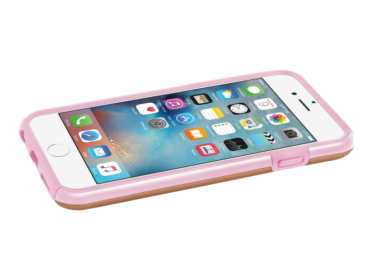 Incipio DualPro SHINE Dual Layer Protection w  Brushed Aluminum Finish for iPhone 6 6s, Rose Gold Blush