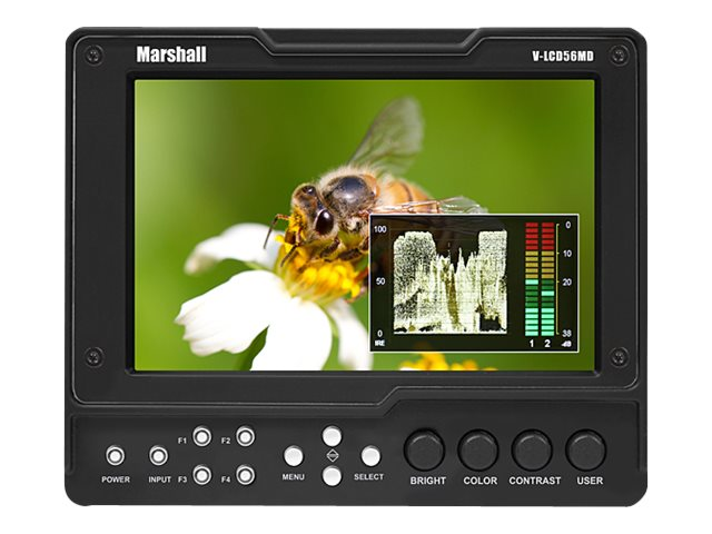 Marshall Electronics 5.6  V-LCD56MD-3G LED-LCD Monitor with 3G SDI Input Module, V-LCD56MD-3G, 17658116, Monitors - LED-LCD