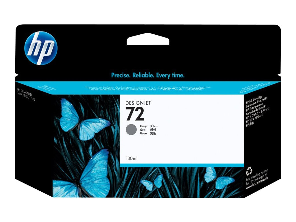 HP 72 Gray Ink Cartridge (130ml) C9374A, C9374A, 7624713, Ink Cartridges & Ink Refill Kits