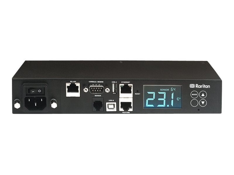 Raritan Smart Rack Controller, RJ12, RJ-45, RS-485, USB Type A