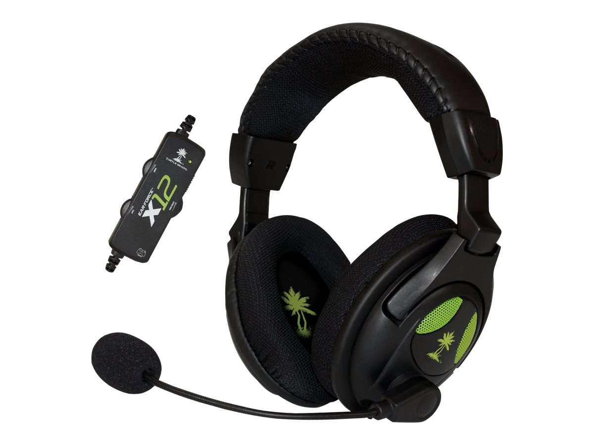 Turtle Beach X12 Ear Force Gaming Headset, USB, TBS-2255, 14685320, Headsets (w/ microphone)