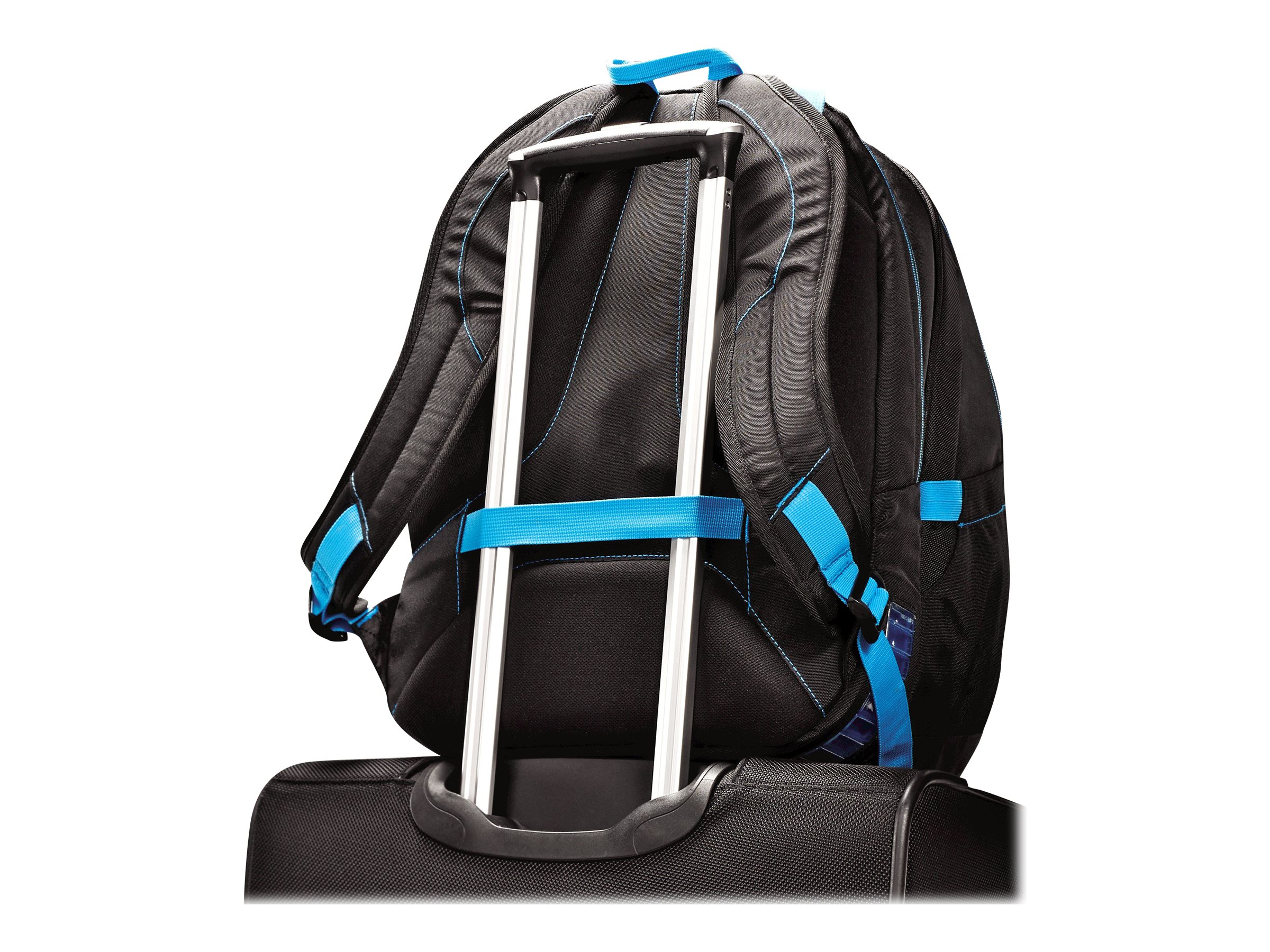 Stephen Gould Viz Air Backpack 15.6, Black w  Electric Blue Trim, 66256-2844