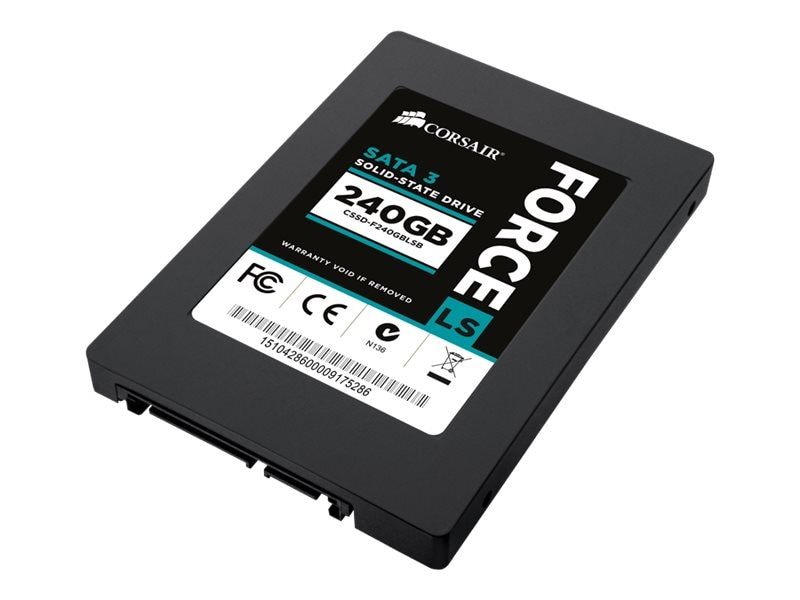 Corsair 960GB Force LS Series SATA 6Gb s MLC 2.5 Internal Solid State Drive, CSSD-F960GBLSB