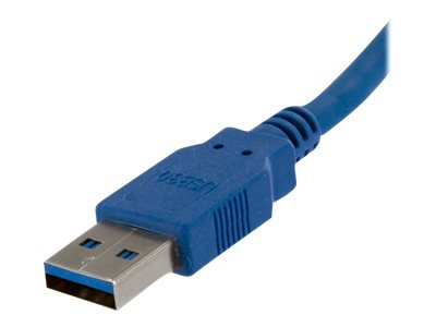 StarTech.com Super Speed USB 3.0 Cable, USB Type A to USB Type B (M-M), Blue, 6ft, USB3SAB6