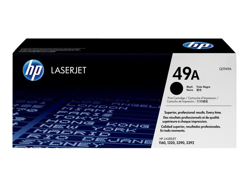 HP 49A (Q5949A) Black Original LaserJet Toner Cartridge for HP LaserJet 1160, 1320, 3390 & 3392
