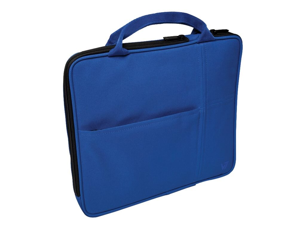 V7 Attache Slim Case for Tablet PC 9.7, iPad 1 2 3 4, iPad Air, Blue, TA20BLU-1N, 16584522, Carrying Cases - Tablets & eReaders