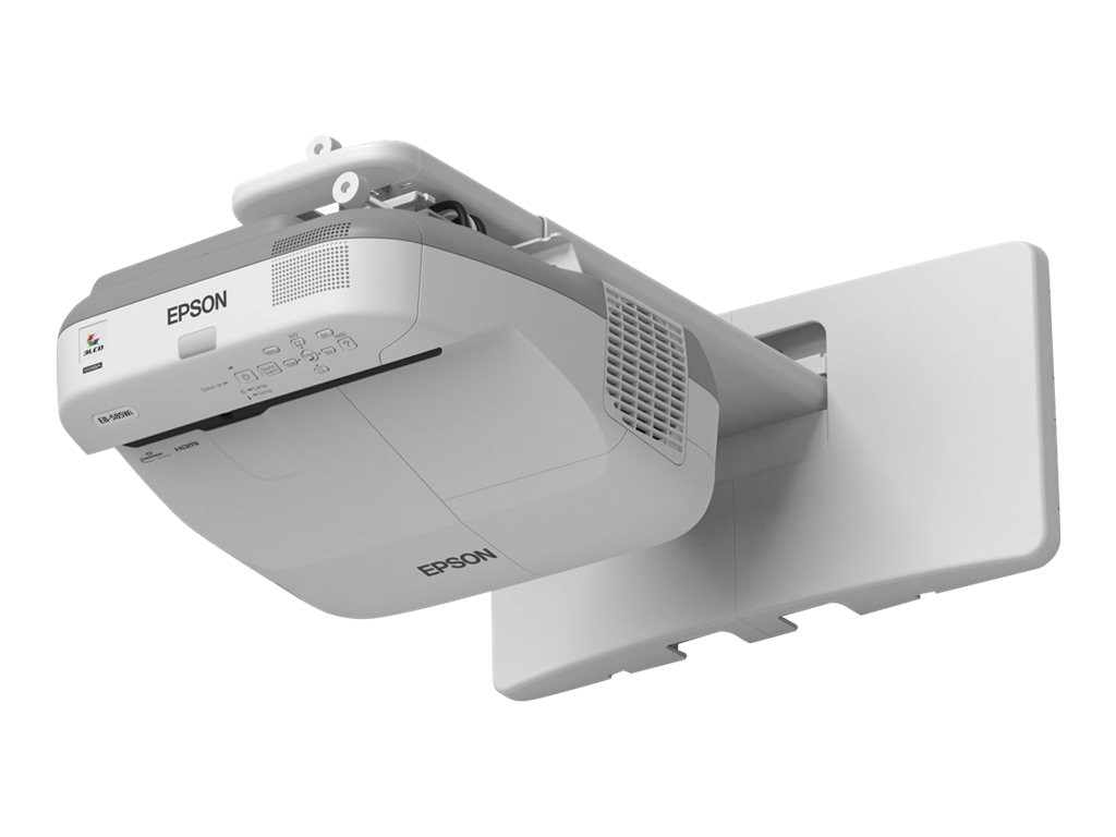 Epson BrightLink 585Wi Interactive WXGA 3LCD Projector, 3300 Lumens, White, V11H600022, 16892314, Projectors