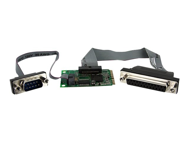 StarTech.com Mini PCIe Serial Parallel Combo Adapter, PEX1S1PMINI