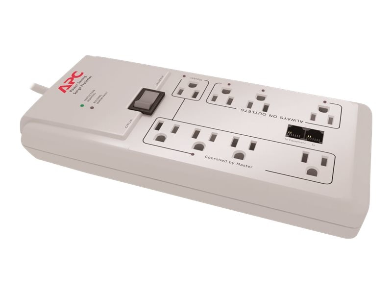 APC Power-Saving Home Office SurgeArrest, 2030 Joules, (8) Outlets, P8GT