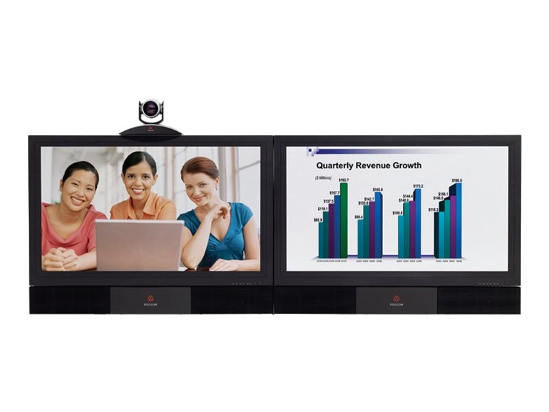 Polycom HDX Media Center 7000-720 2WC 2-50 1080p LCD Display, 7200-26950-001, 12669086, Audio/Video Conference Hardware