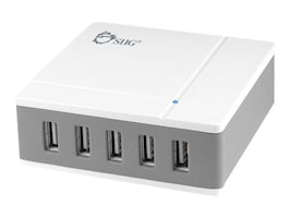 Siig 5-Port 45W Desktop USB Rapid Charger, AC-PW0R12-S1, 20935170, Battery Chargers