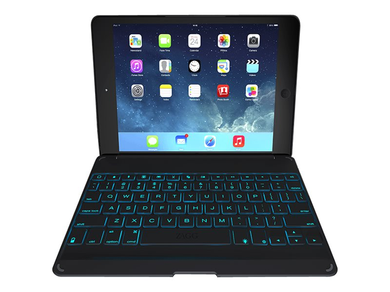 Zagg Keyboard Cover Folio Case for iPad Air, Black