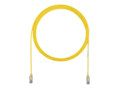Panduit Cat6e 28AWG UTP CM LSZH Copper Patch Cable, Yellow, 41ft