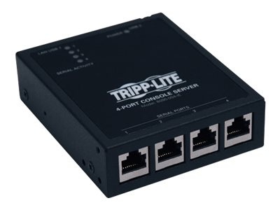 Tripp Lite 4-Port IP Serial Console Terminal Server, B095-004-1E, 11435430, Remote Access Servers