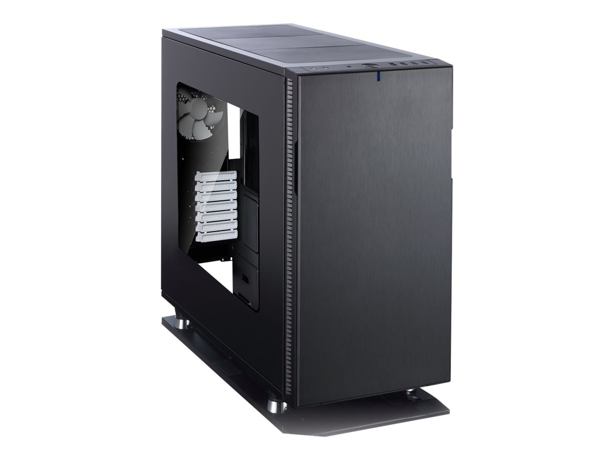 Fractal Design Chassis, Define R5 Window ATX 8x3.5 Bays 7xSlots, Black, FD-CA-DEF-R5-BKO-W, 20658563, Cases - Systems/Servers