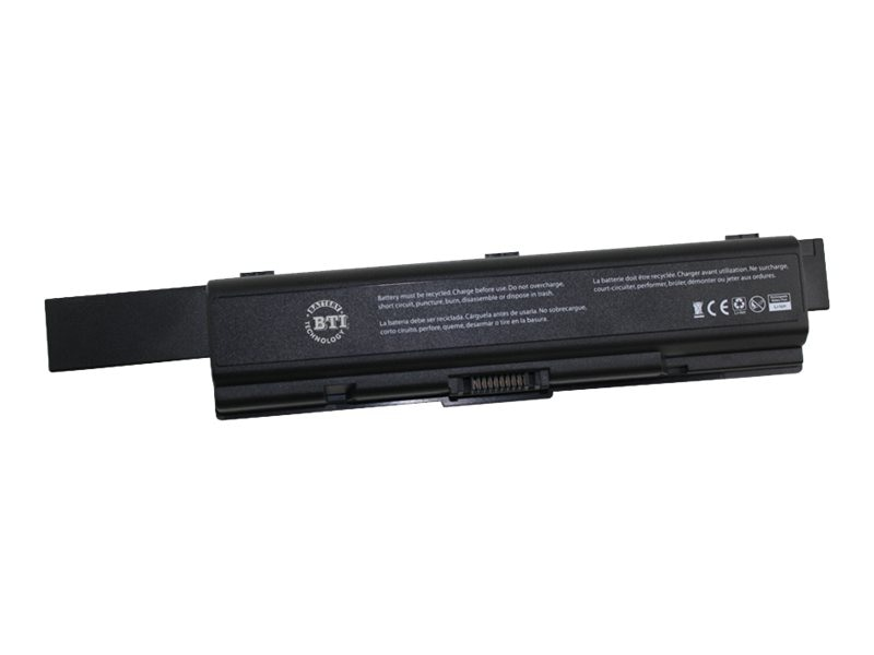 BTI Li-Ion 6-cell Battery for Toshiba Satelite A200 A205 A500, TS-A200X12, 15176412, Batteries - Notebook
