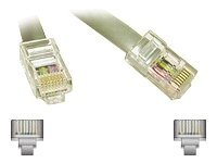 C2G Modular Straight Crossover Cable, RJ-45 8P8C, Silver, 25ft, 02980, 8751503, Cables
