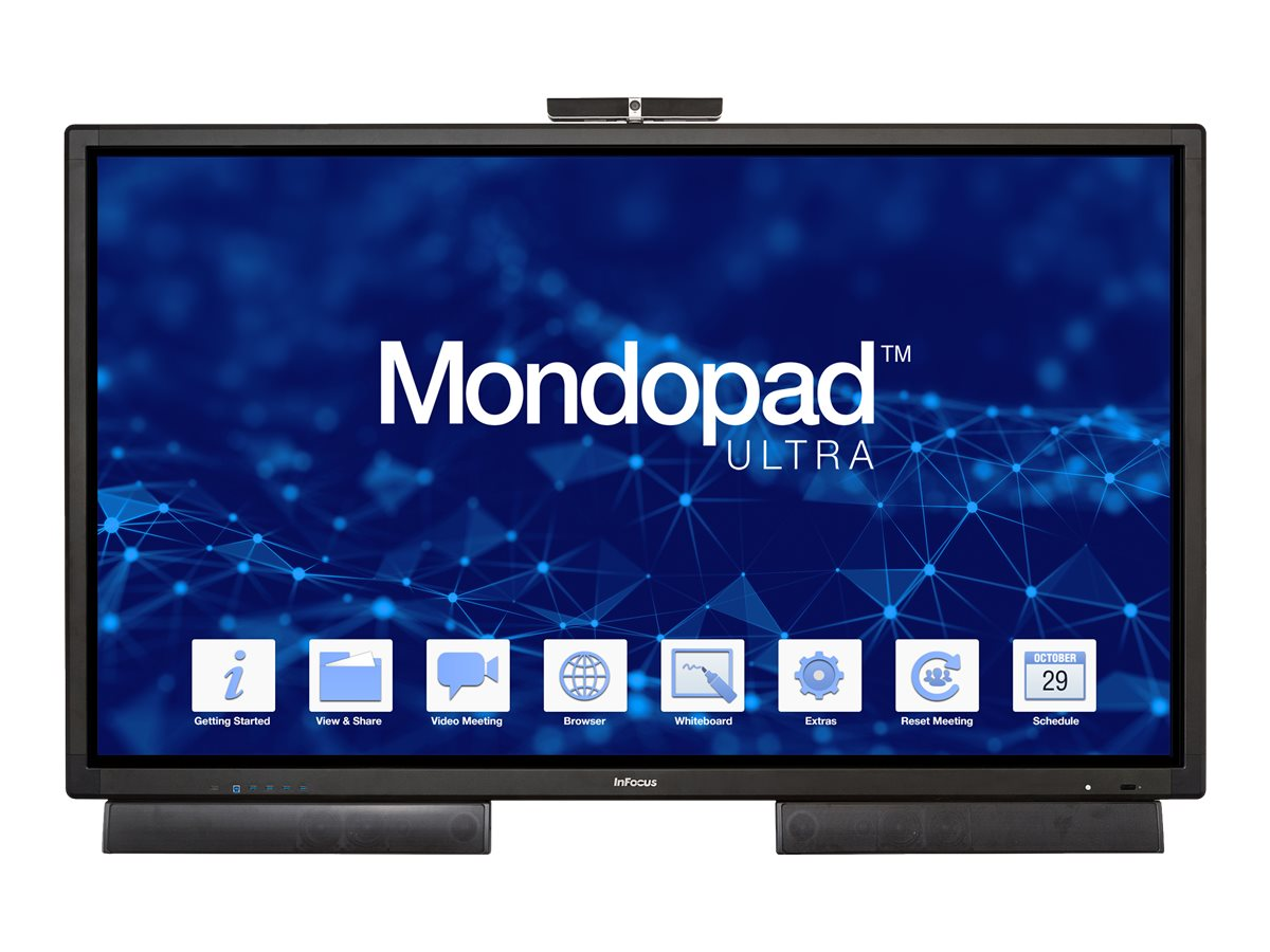 InFocus 85 Mondopad 4K Ultra HD LED-LCD Interactive Display with Camera, INF8521