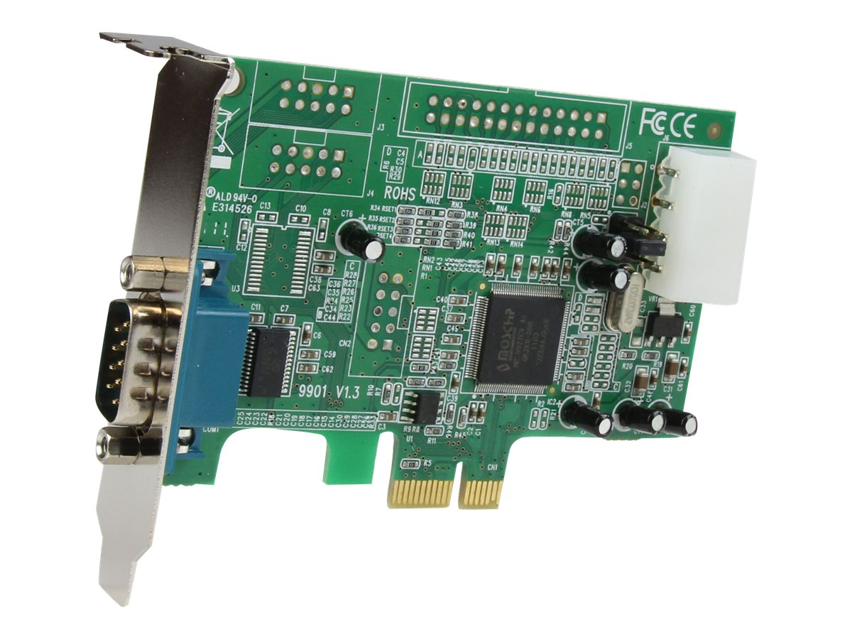 StarTech.com 1 Port Low Profile Native RS232 PCI Express Serial Card with 16550 UART, PEX1S553LP