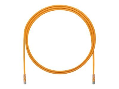 Panduit CAT6A UTP Copper Patch Cable, Orange, 5ft