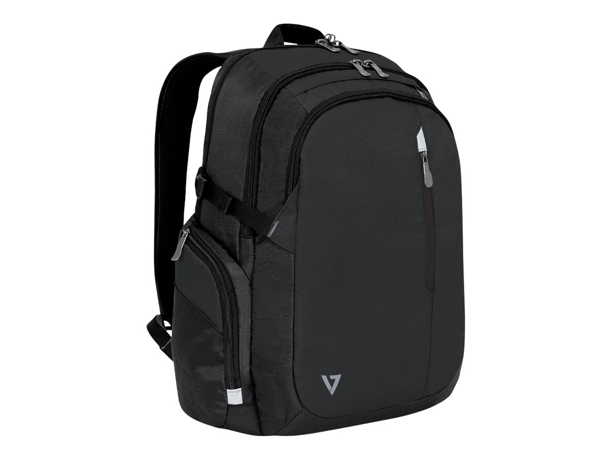 V7 Classic Elite Backpack 15.6 w  Trolley Strap, Padded Back Support, CCBPX1-9N