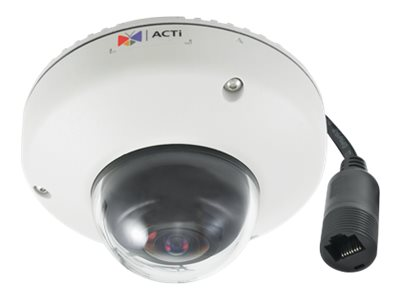 Acti 5MP Outdoor Mini Fisheye Dome with Basic WDR, Fixed Lens