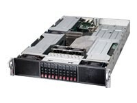 Supermicro SuperServer Barebones 2U RM Xeon E5-2600 Family Max.256GB DDR3 10x2.5 HS Bays 6xPCIe GNIC 2x1800W, SYS-2027GR-TRFT, 14764917, Servers