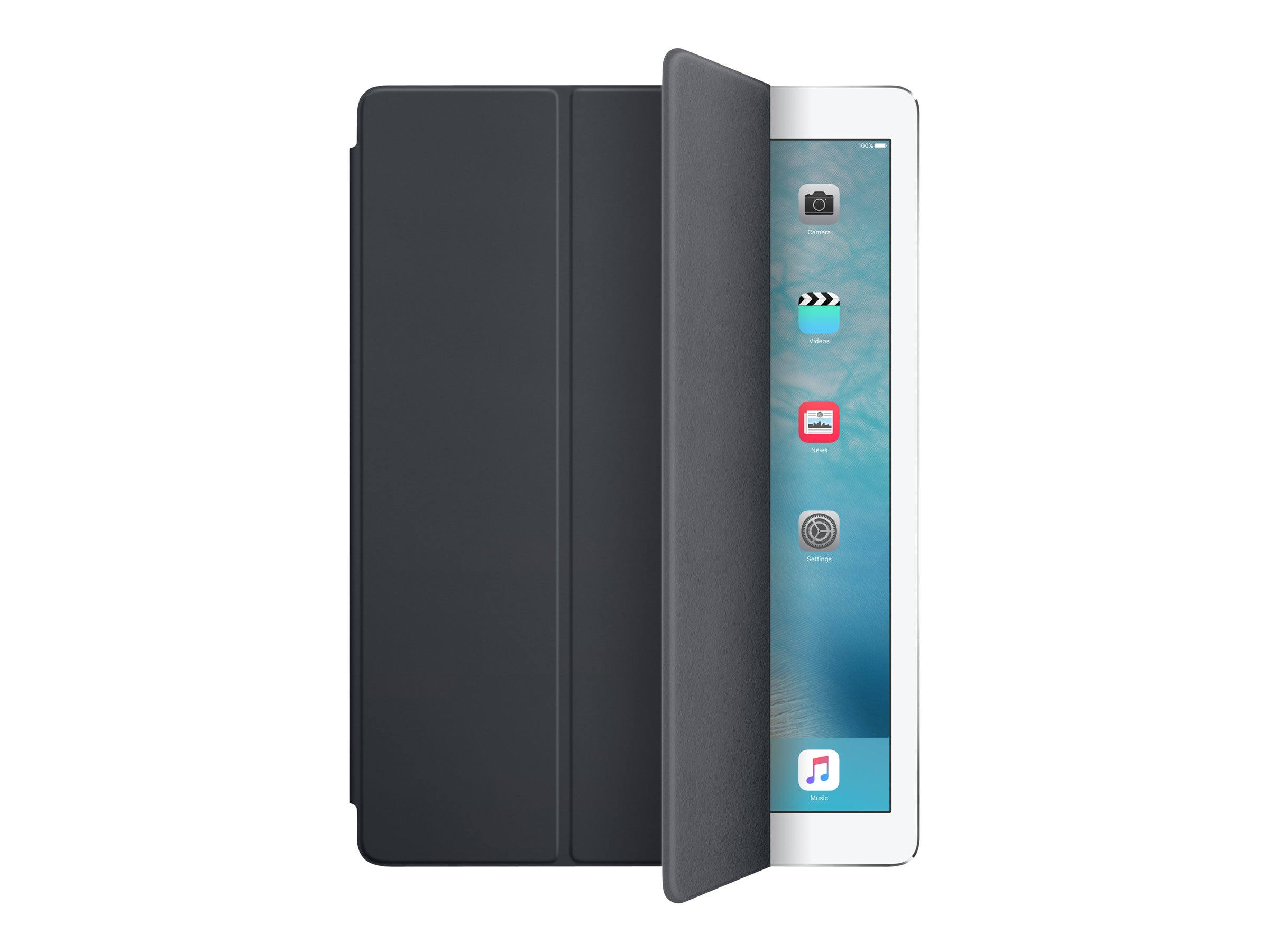 Apple iPad Pro Smart Cover - Charcoal Gray, MK0L2ZM/A, 30769566, Carrying Cases - Tablets & eReaders