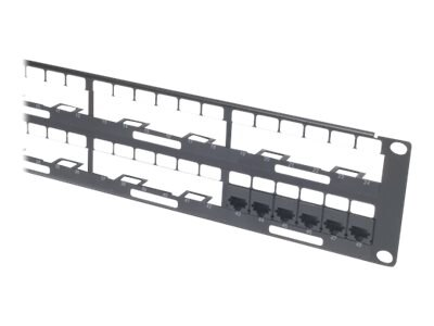 APC Data Distribution 2U Panel, Holds 8 each Data Distribution Cables for Total of 48 Ports, AR8452