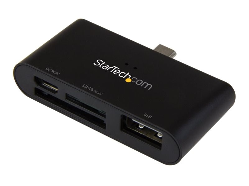 StarTech.com On-the-Go USB Card Reader for Mobile Devices, FCREADU2OTGB