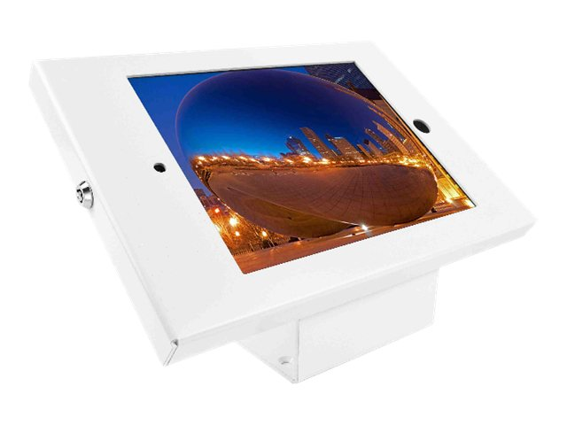 Compulocks iPad Enclosure Kiosk Wall or Desk Mount, Full Metal,  iPad Kiosk  fits iPad 2 3 4, White