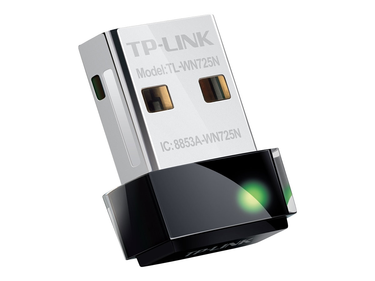 TP-LINK Plug in and Forget Wireless N Nano USB Adapter, 150Mbps, TL-WN725N