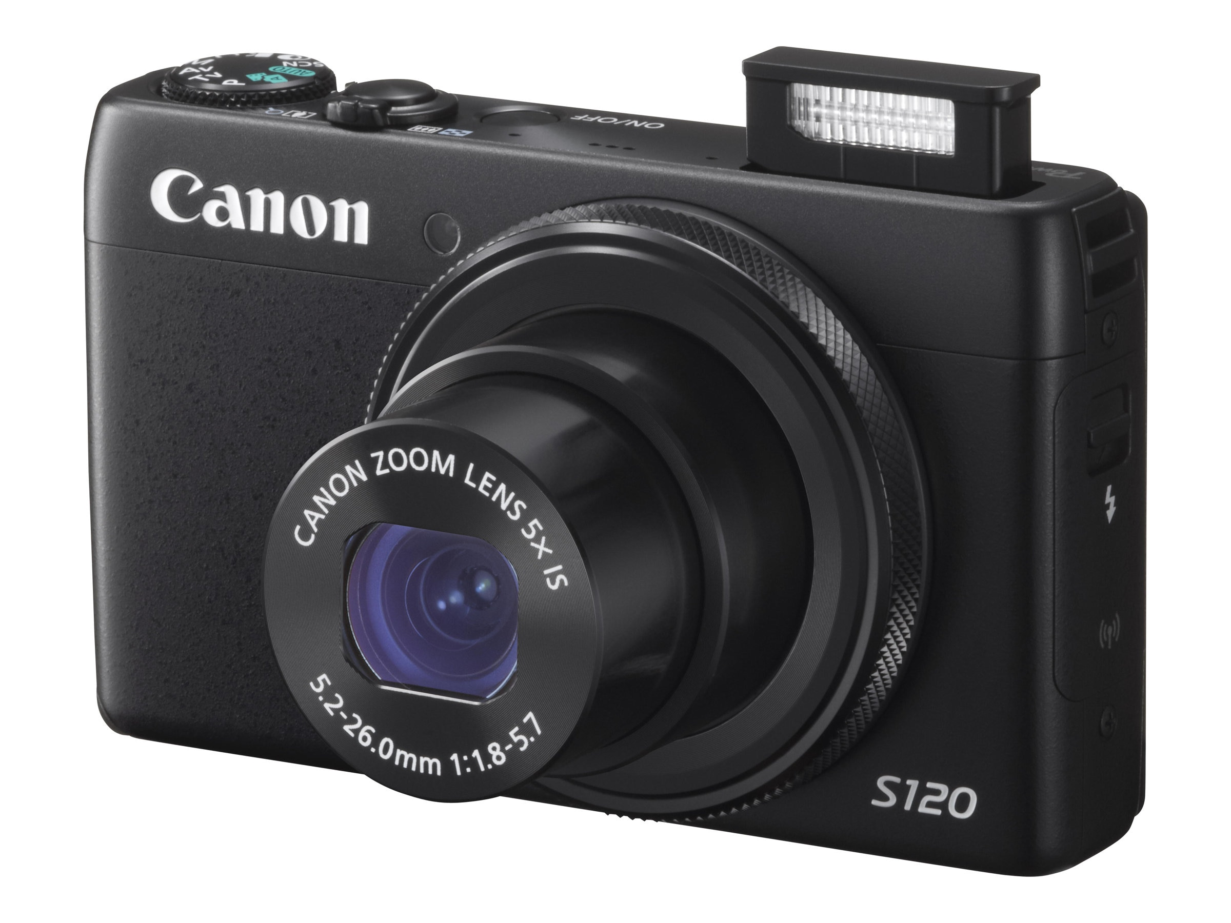 Canon Powershot S120 Camera, 12.1MP, Black, 8407B001, 16241511, Cameras - Digital - Point & Shoot