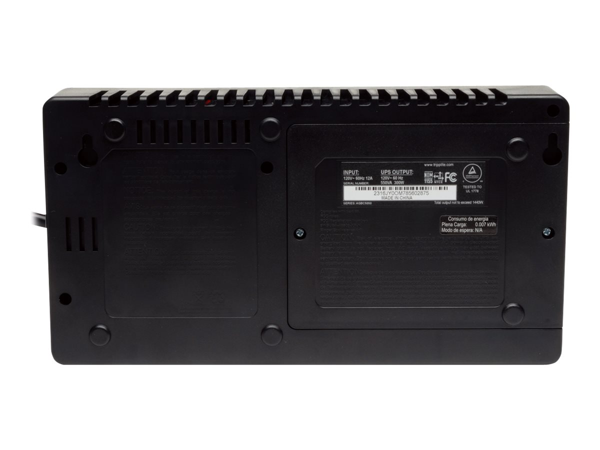 Tripp Lite AVR Series 700VA 350W Ultra-Compact Line Interactive 120V UPS, (8) Outlets, USB Port, Muted Alarm, AVR700UXRM