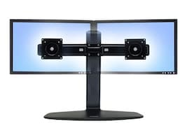 Ergotron Neo-Flex Dual LCD Lift Stand, Black, 33-396-085, 10805953, Stands & Mounts - AV