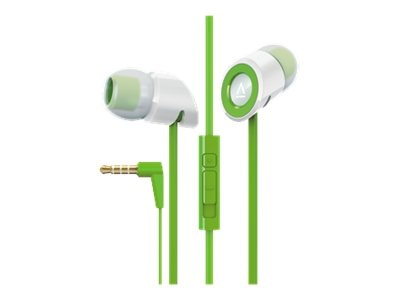 Creative Labs Hitz MA350 Noise-Isolation Headset with Microphone for Smartphones, Green, 51EF0610AA009, 15983370, Headsets (w/ microphone)