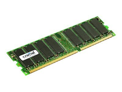 Crucial 1GB PC2700 333MHz 184-pin Registered ECC CL2.5 DDR SDRAM DIMM, CT12872Y335, 6511522, Memory