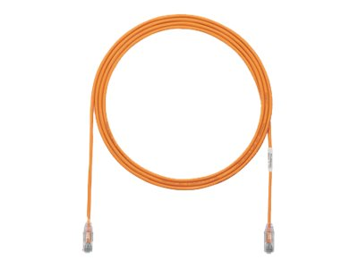 Panduit Cat6e 28AWG UTP CM LSZH Copper Patch Cable, Orange, 8ft