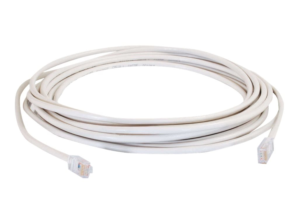C2G Cat5e Non-Booted Unshielded (UTP) Network Patch Cable - White, 25ft